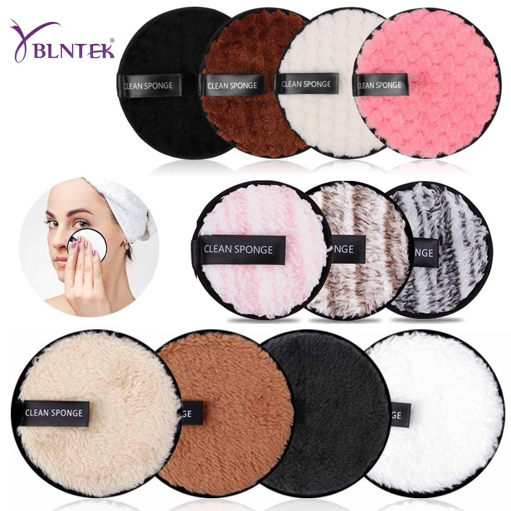YBLNTEK Reusable Makeup Remover Pads Microfiber Cotton Pads Facial Makeup Remover Puff Double Layer Face Skin Cleansing Towel