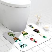 Bath-Mat Toilet-Absorbing-Accessories Anti-Slip Floor-Rug Home-Decoration Washable