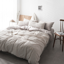 yard dyed washed cotton Bedding Sets Full King Twin Queen King Size 4Pcs Natural flax Bed Sheet Duvet Cover Set Pillowcase стоимость
