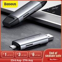 Baseus USB 3.0 lettore di Schede SD Micro SD TF Flash Card Adattatore per il Computer Portatile OTG Tipo C a Multi Mobile telefono lettore di Schede USB 3.0