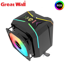 Great Wall CPU Cooler RGB 4 Pipe 90mm Dual Fan Radiator for Intel LGA 1150 1151 1155 1156 2011 2066 AMD AM4 AM3 FM2 CPU Cooling кулер id cooling se 214l r intel lga 2011 1366 1151 1150 1155 1156 amd fm2 fm2 fm1 am4 am3 am3 am2 am2