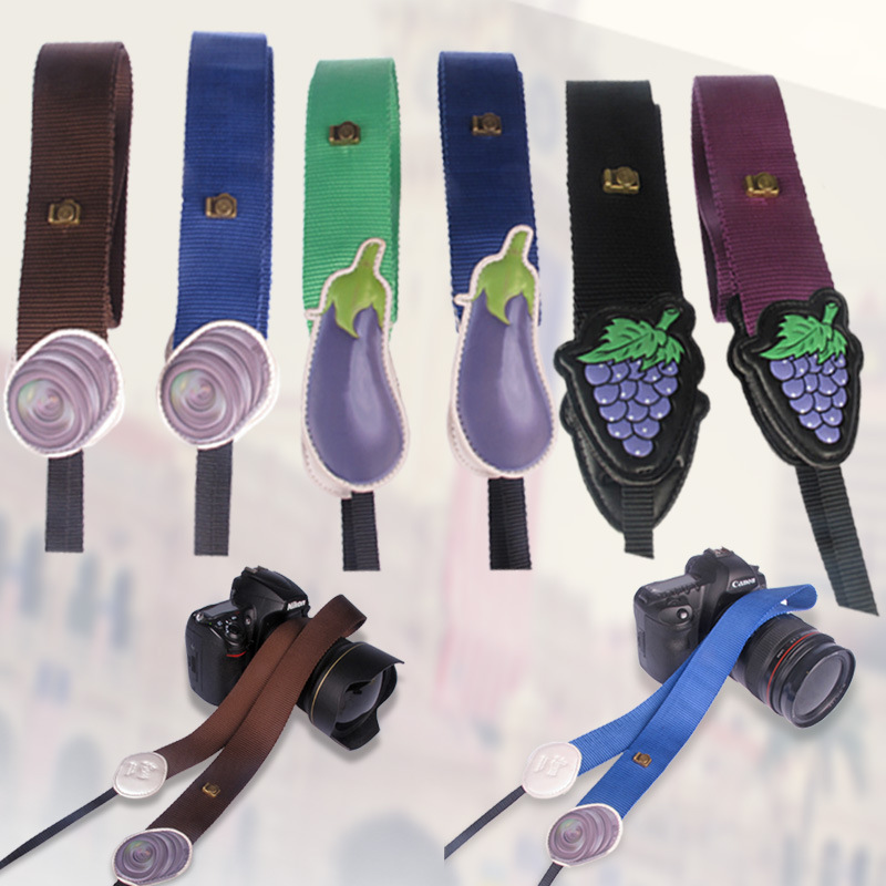 LYNCA Origional Camera Straps Fruit Pattern Digital SLR Camera Photography Strap Closeout Promotion