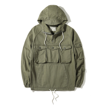 Men Spring Autumn Fashion Brand Military Style Tank Pockets Camouflage Hooded Jacket Coat Male Casual Loose Frock - discount item  17% OFF Coats & Jackets