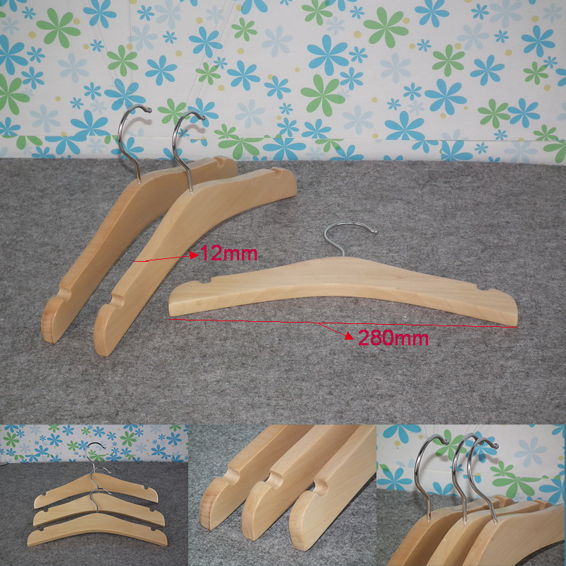 Colorful Fashion kids Garment wood hangers 10 pcs Household Wardrobe Storage wood clothes hanger for children clothing store in Hangers Racks from Home Garden