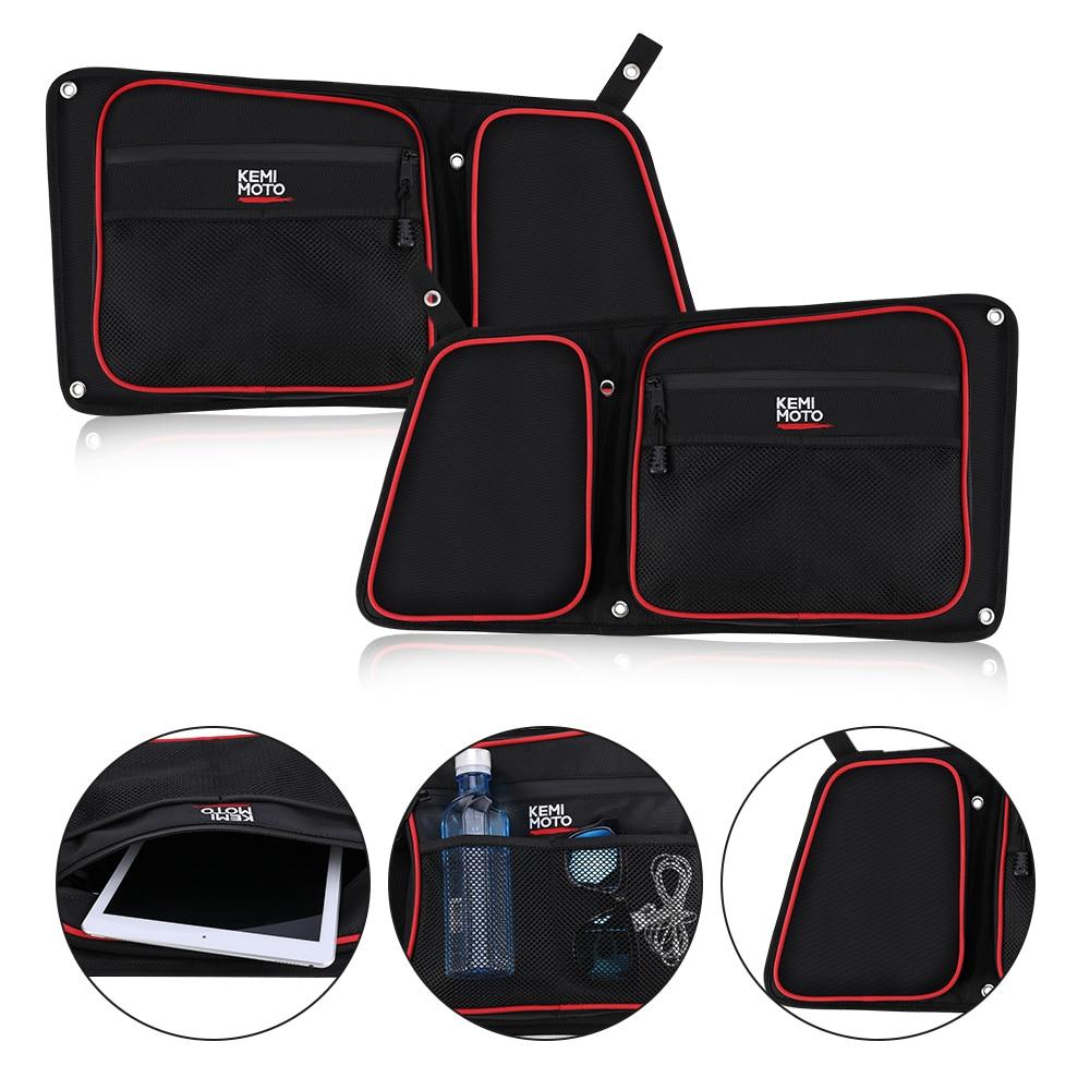 KEMIMOTO Door Bags N Armrest for Polaris RZR XP//XP4 1000 //Turbo 900XC S900
