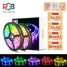 ledy Taśma LED Light RGB 5050 SMD2835 elastyczna wstążka DIY Led listwa oświetleniowa taśma RGB dioda DC 12V aplikacja na telefon bluetooth tanie tanio aiopp CN (pochodzenie) ROHS SALON 30000 PRZEŁĄCZNIK Taśmy 3 84 w m 12 v Smd5050 LED5001 5M ROMM