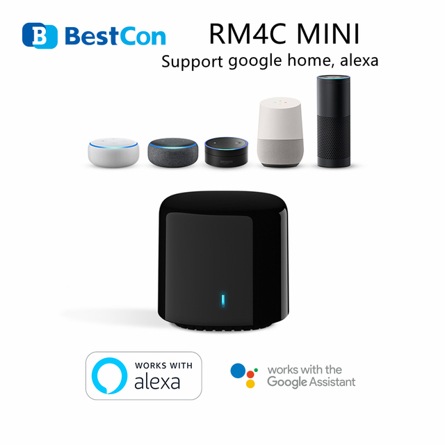 BroadLink BestCon RM4C mini WiFi Smart Universal IR Fernbedienung Arbeitet mit Google Hause Wi Fi 3G 4G, alexa Smart Home