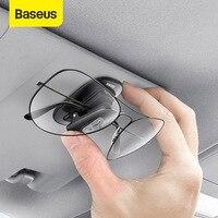 Baseus Car Glasses Case Auto Sun Visor Glasses Holder Sunglasses Clip Card Ticket Holder Pen Case Clip Box Universal Accessories