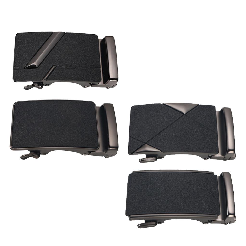 Men Solid Buckle Automatic Ratchet Leather Belt Buckle 8.5x4x2cm