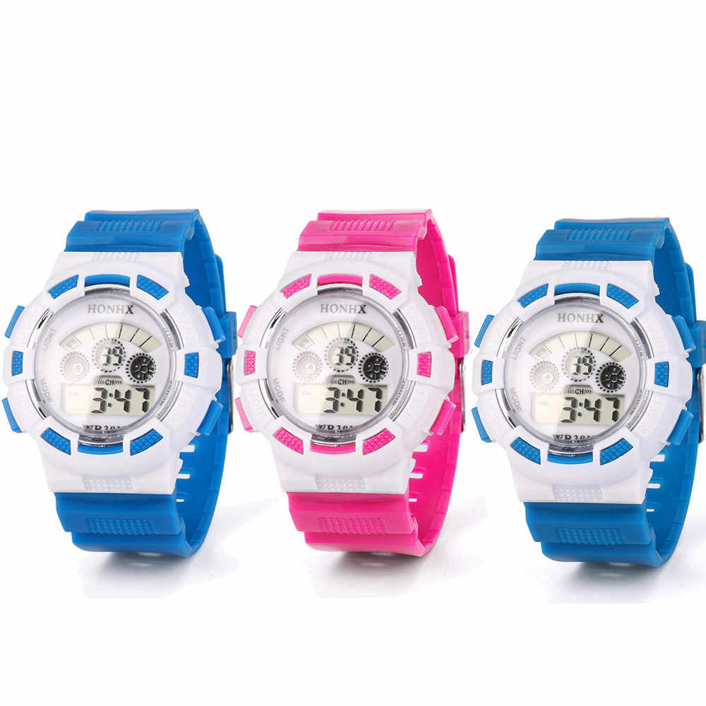 Anak-anak Menonton Fashion Anak Gadis Anak Olahraga Tahan Air Lampu LED Digital Analog Wrist Watch Relogio Digital Relogio Infantil