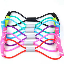 Expander for Breast Slimming Yoga rubber workout Fitness Resistance 8 Word Chest Expander Elastic Band for Home Sports Exercise