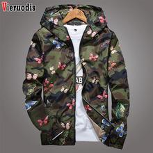 Spring High Quality Mens Women Summer Camo Windbreaker Jacket Autumn Butterfly P