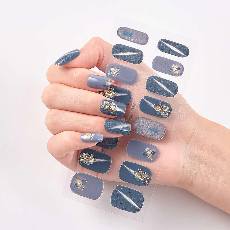 16 типов 24 стиля 2020 новый модный дизайн гель для ногтей Стикеры водостойкие Корейская версия Гель-лак полоски обертывания