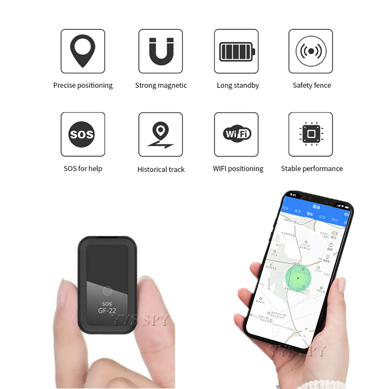 NEW GF22 Mini GPS Tracker Magnetic LBS Wifi Positioning SOS Fence Alarm 2G SIM SMS Voice Recorder APP Remote Covert Car Locator