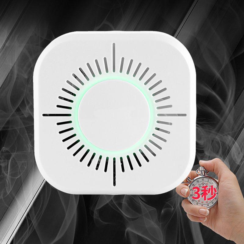 White Smart Wireless Smoke Detector Fire Alarm Temperature Sensor for Home Security Remote Control Gadgets Pakistan