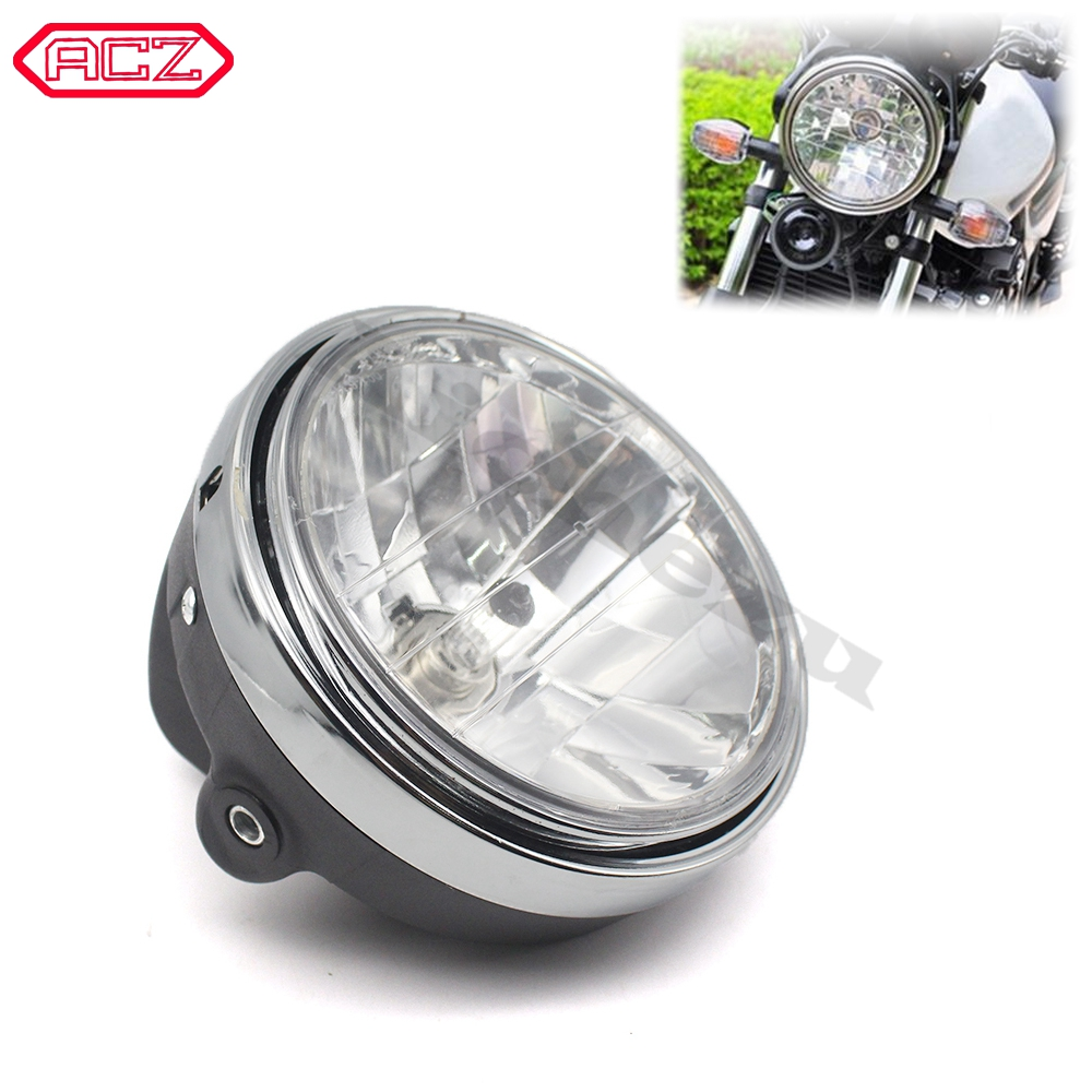 Motorcycle Parts Crystal <font><b>Headlight</b></font> Front Lamp Head Light for <font><b>Honda</b></font> CB400 VTEC I II III IV CB750 <font><b>VTR250</b></font> CB Hornet 250/600 image