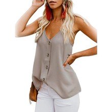 Solid Color Maternity Clothes V-neck Button Camisole Small Vest Plus Size Women Clothing Pregnancy Tops