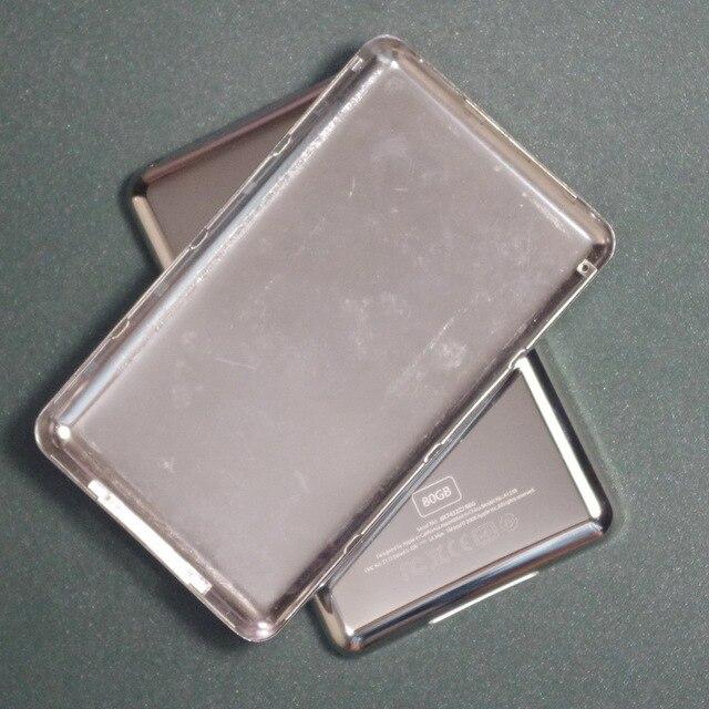 Pour iPod Video 30GB 60GB 80GB coque arrière mince et épaisse