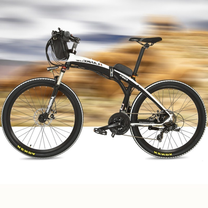 Lankeleisi 189.47 electric bicycle, folding bicycle, 26 inches, 36/48 V, 240 W, disk brake, fast folding, mountain 1