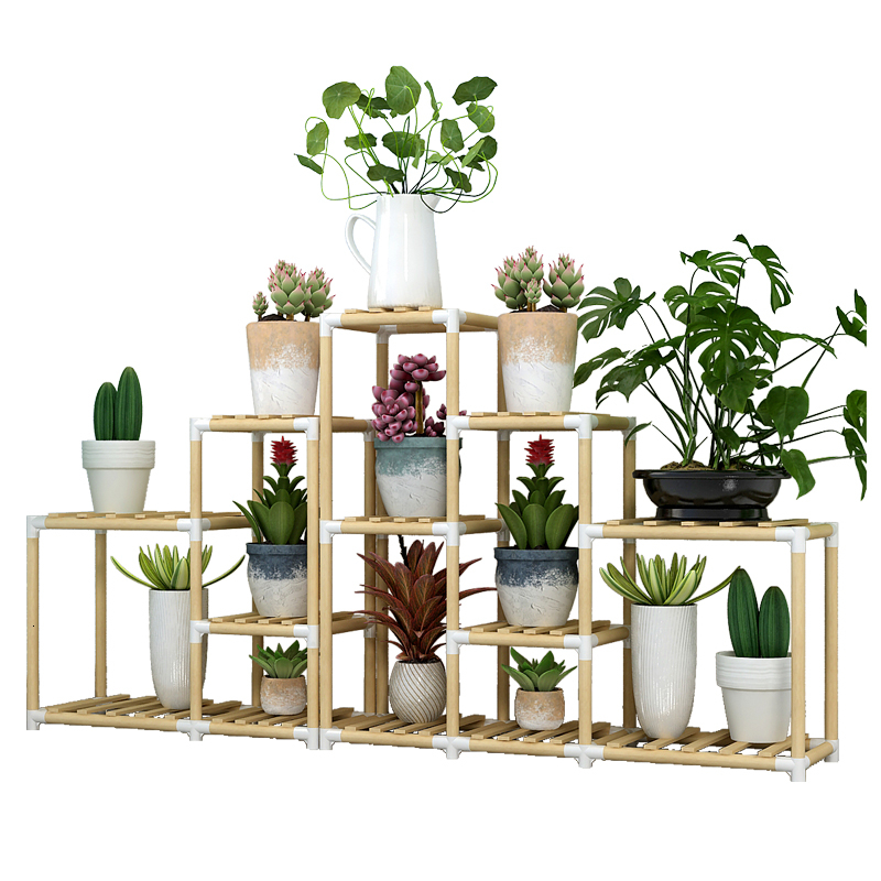 Wood Flower Airs Multi-storey Indoor Bay Window Landing Type A Living Room Balcony  Outdoors Botany Basin Rack