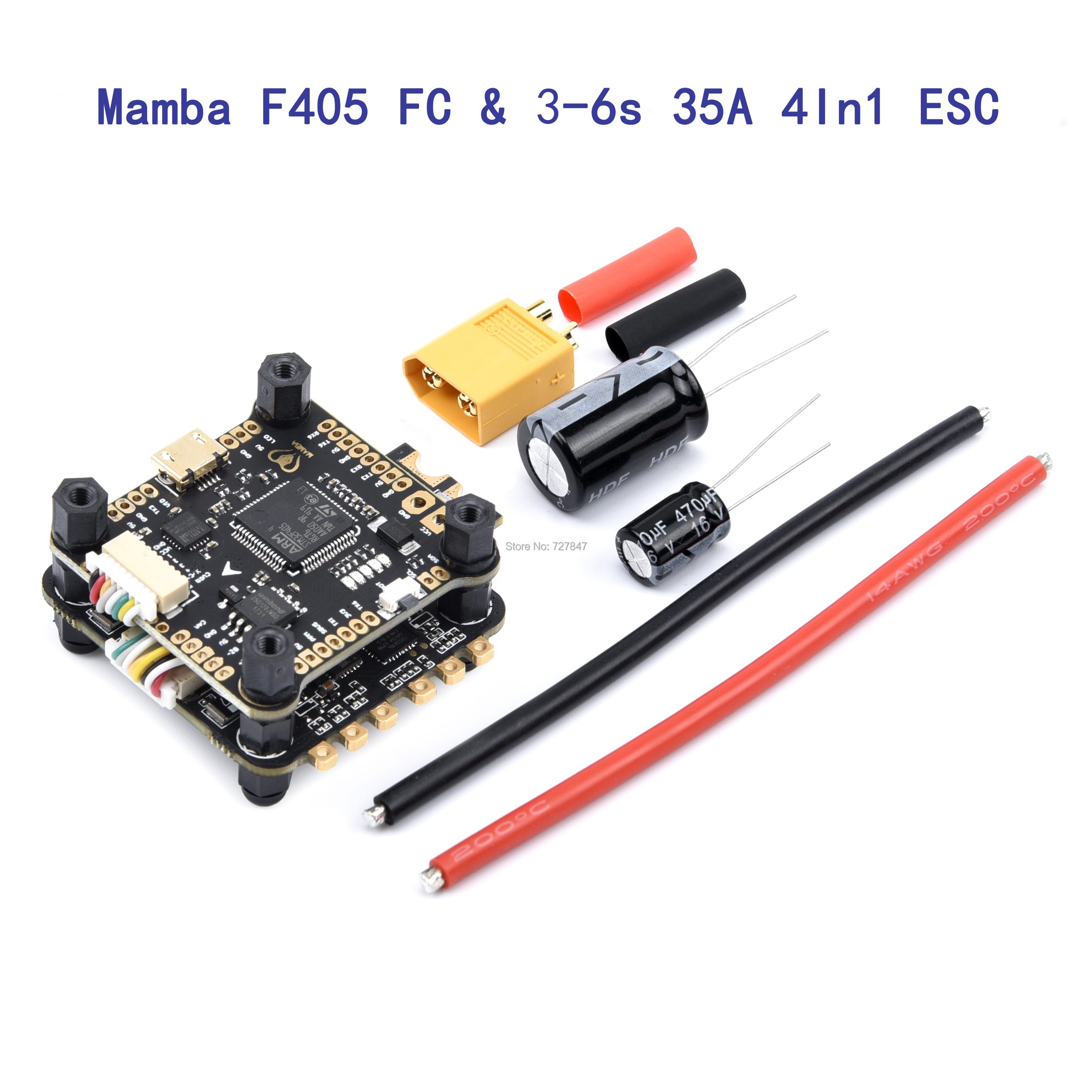 Mamba F405 Flight Controller & 3-6s 35A  4 In 1 ESC  BLHeli32 Brushless ESC Support DShot1200 Dshot600 Dshot300 Multi-axis FPV