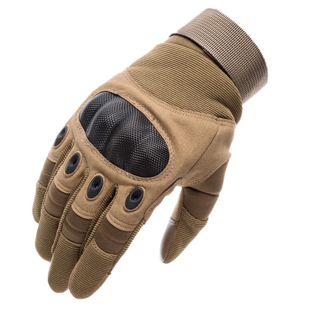 Мужские спортивные перчатки на открытом воздухе, дорожные коричневые/черные/зеленые Тактические перчатки варежки - Цвет: brown