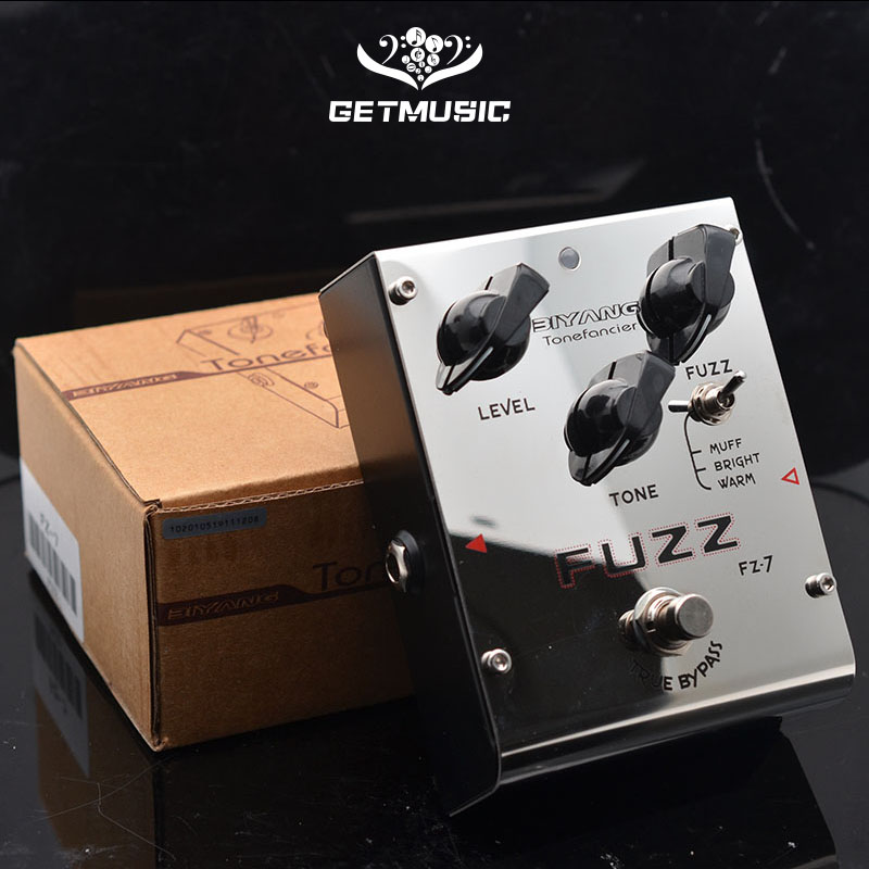 Biyang Tonefancier FZ-7 Guitar Bass Effect Pedal 3 Models Fuzz Effect guitar Pedal True Bypass with gold pedal connector image