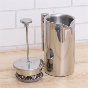 Image 5 - 350/800/1000ML Kaffee Töpfe Doppel Schicht Edelstahl Kaffee Und Tee Französisch Presse Wärme Erhaltung becher