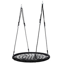Baby Tree Swing Chair Rope Ladder Garden Toys Round Nest Hanging Adult Swing Seat Large Capacity Indoor Swing For Kids DQQ003 cheap 5-7 Years 8-11 Years 12-15 Years Grownups 6 years old 8 years old Outdoor Away from the crowd In-Stock Items PE rope steel pipe