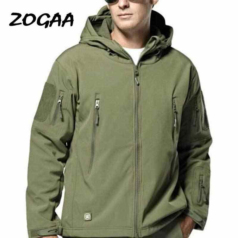 Giacca A Vento In Nylon Uomini Cappotto Militare All-MatchTactical Tuta Sportiva Esercito Traspirante Giubbotti della Chiusura Lampo Freddo Safari Sportswear