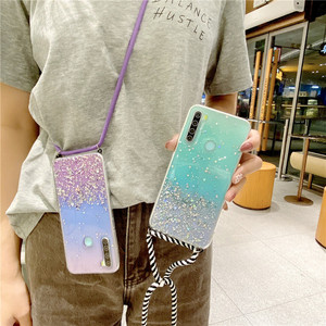 Чехол для телефона с цепочкой и ожерельем для Xiaomi Mi POCO X2 M3 X3 NFC, ремешок на шею, шнур, веревка, чехол для Redmi Note 10 9 9S 8 8 7 6 Pro