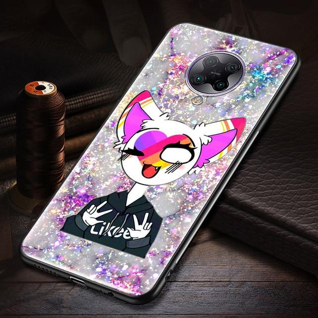 Likee Funny cat bear love heart Case for Redmi 8 8A 7 7A 6A Note 9 Pro 9S 9 9A 9C Note 8 8T 7 K20 K30 Pro Phone Shockproof Shell