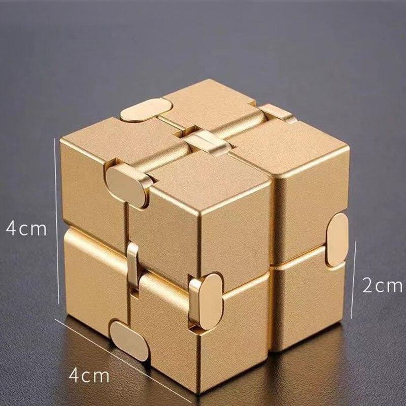 Купить с кэшбэком infinity cube aluminium Cube Toys Premium Metal Deformation Magical Infinite stress relief Cube Stress Reliever for EDC Anxiety