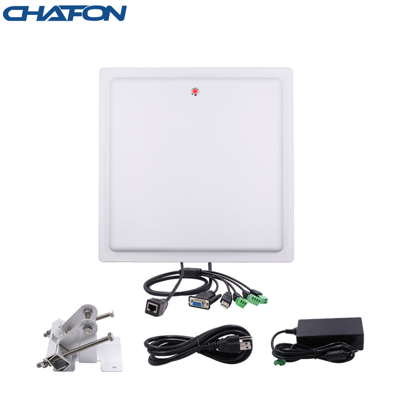 Chafon Rfid Reader Long Range Ip66 Waterproof Usb Rs232 Wg26 Tcp Ip Interface Buit-in 12db Gain Antenna Free SDK For Car Parking