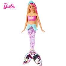 Барби dreamtopia блестящая кукла Русалка с розовыми светлыми