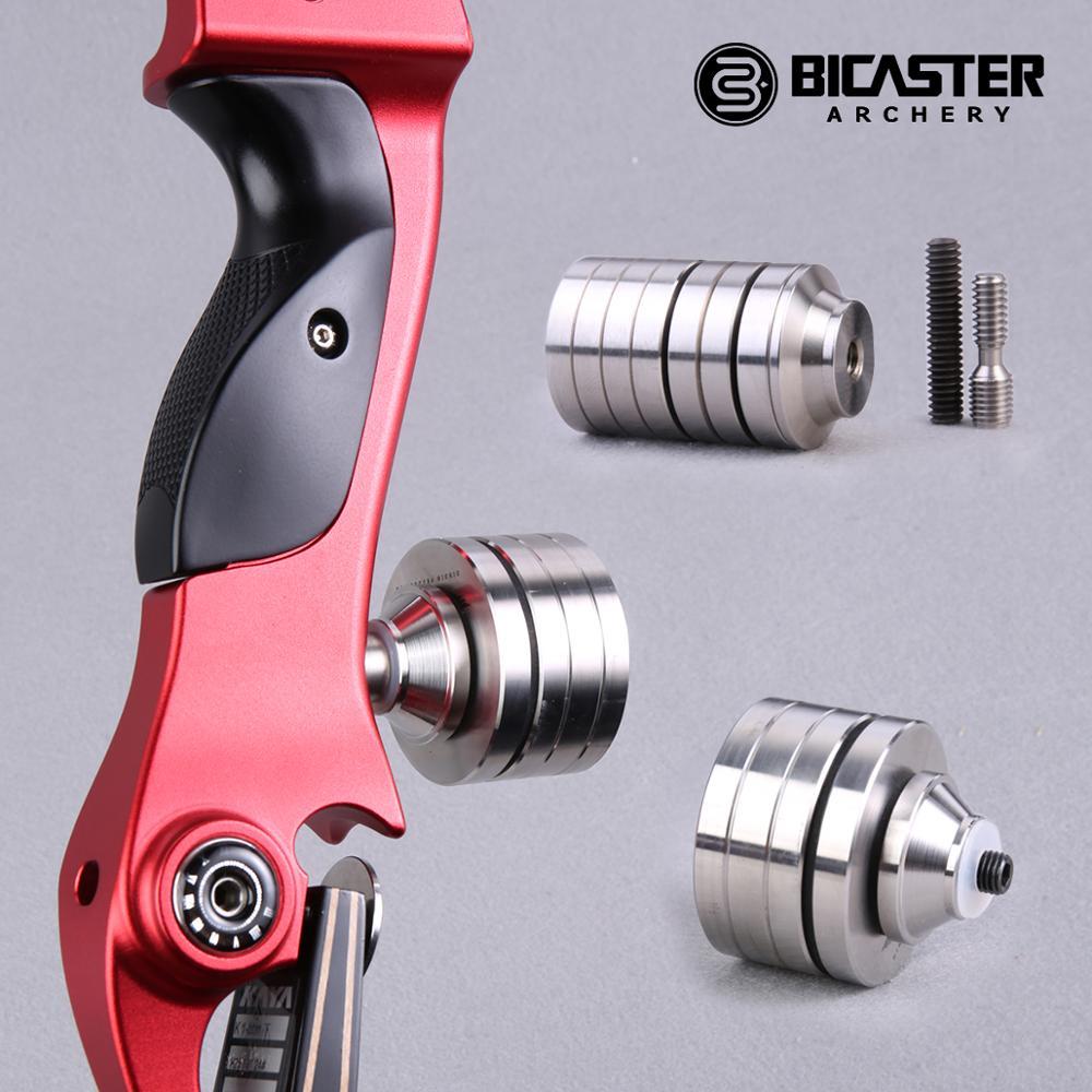 Стабилизатор для стрельбы из лука Bicaster, счетчик веса, сбалансированный вес для рекурсивного лука Barebow