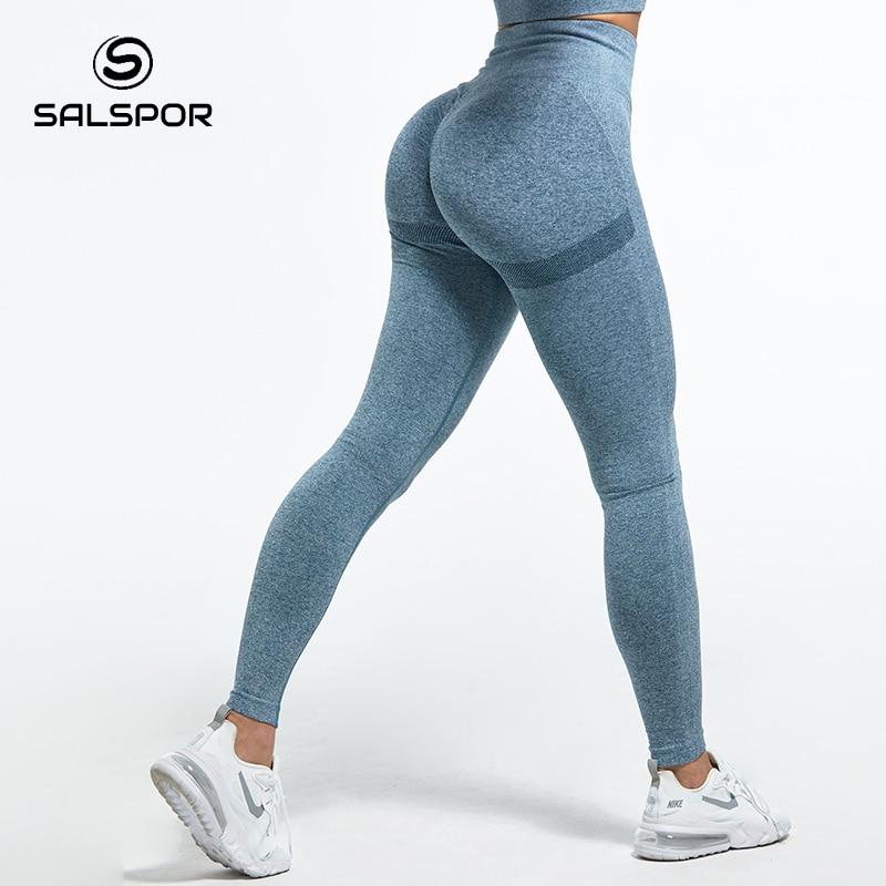 SALSPOR Leggings a vita alta da donna per Fitness Ladies Sexy Bubble Butt Gym sport Leggings da allenamento Push Up Fitness Leggins femminili 1