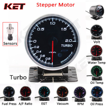 цена на Defi Advance BF 2.5inch 60mm 7 Colors Boost Turbo Auto Gauge Turbo Water Temp Oil Temp Boost Oil Press  with Electronic Sensor