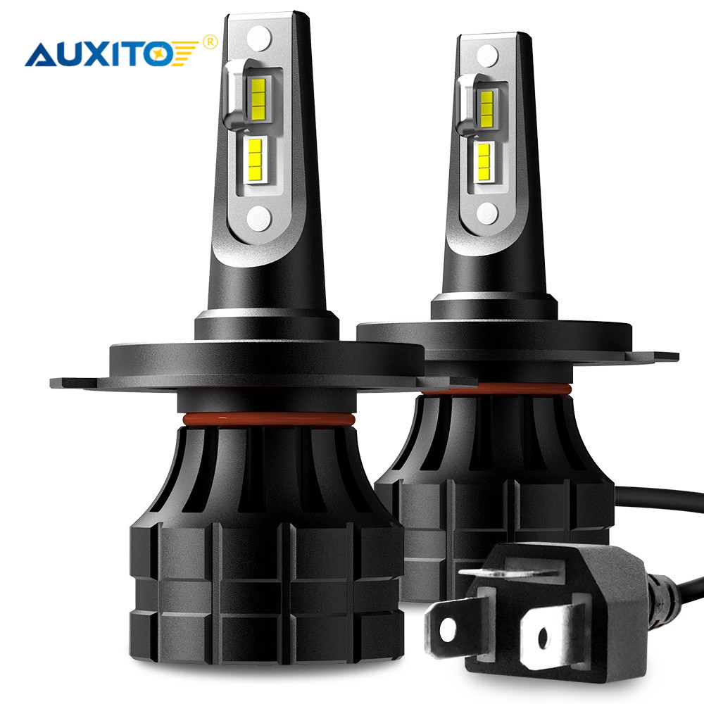 AUXITO Canbus H4 <font><b>LED</b></font> <font><b>H7</b></font> H11 H8 9005 9006 H9 HB3 9012 <font><b>LED</b></font> Headlight Bulb Car Light 10000LM <font><b>55W</b></font> 6000K 12V Auto <font><b>Lamp</b></font> No Radio Noise image