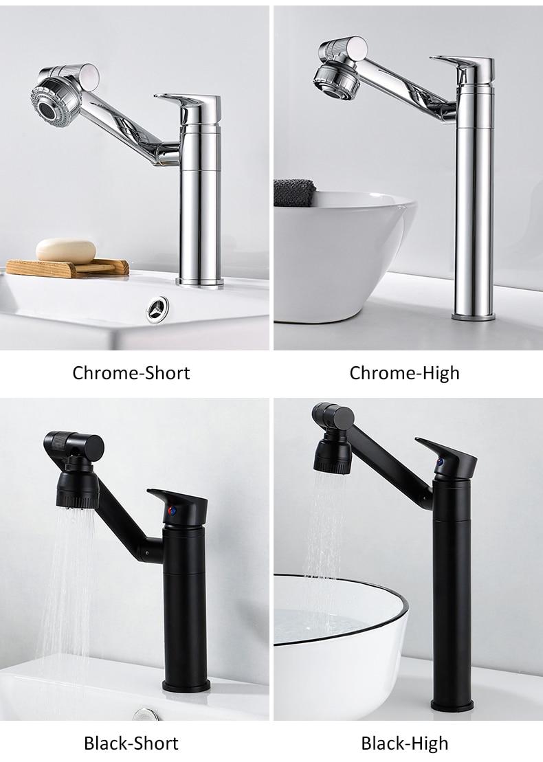 H3fb52687b654455992662a8a5c409635Z ELLEN Multifunction Bathroom Sink Faucet Hot Cold Water Mixer Crane Antique Bronze Deck Mounted Universal Water Taps EL1326
