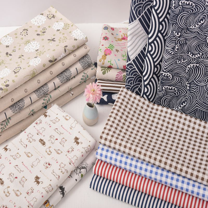 Canvas Cotton Fabric Cloth Per Meter 150cm Width Thick Sofa Tablecloth Curtain Pillow Handmade Diy Old Coarse Cloth Fabric