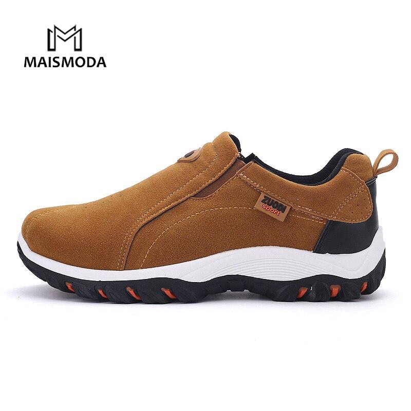 MAISMODA Men's Walking Shoes Slip-On Comfortable Anti-slip Sneakers Footwear Breathable Big Size 39-48 YL627