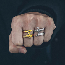 Vnox Unique Dagger Ring for Men Silver Stainless Steel Tough Man Jewelry Punk Knife Male Mister Anel Gent Alliance