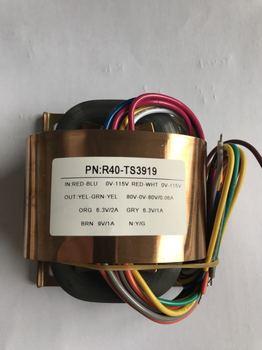 80V-0-80V 60mA 6.3V 2A 6.3V 1A 9V 1A  R Core Transformer 50VA R40 custom transformer 115V/115V copper shield Power amplifier