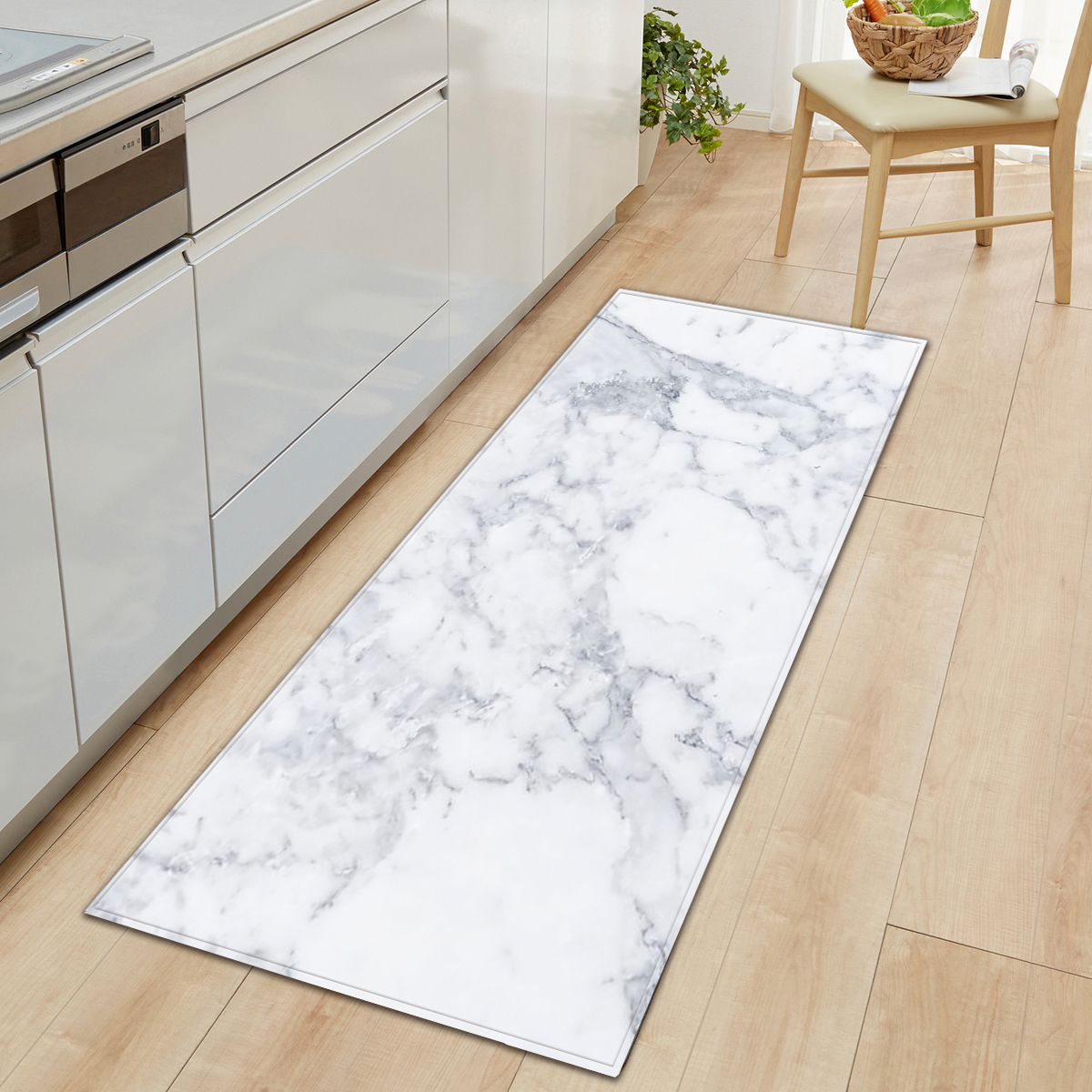 Marble Pattern Printed Floor Mat Kitchen Non Slip Floor Mats For Living Rooms Door Mats Entrance Decor Floor Rug Carpet