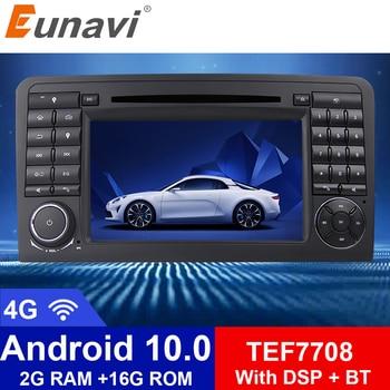 цена на Eunavi 2 Din Android 10 Car DVD Player GPS For Mercedes Benz Class ML W164 ML350 ML300 GL500 ML320 ML280 GL350 GL450 Radio 4G BT
