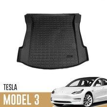 Xe Mới Chống Thấm Nước Thân Cây Thảm Cho Mẫu Tesla Model 3 Tùy Chỉnh Xe Phía Sau Thân Cây Lưu Trữ Thảm Hàng Khay Thân Cây Tấm Bảo Vệ thảm 2021