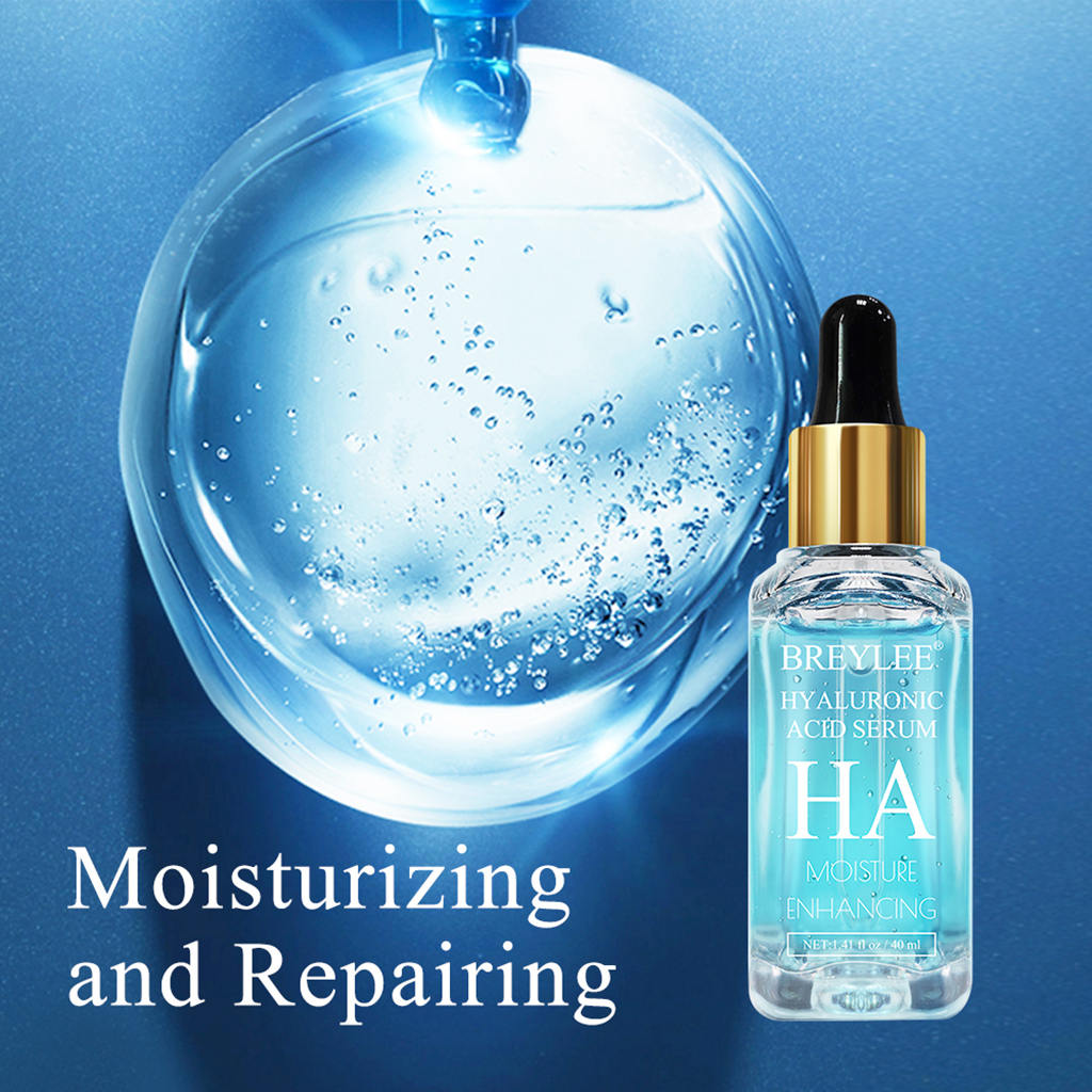 BREYLEE Serum Series Hyaluronic Acid Vitamin C Whitening Face Skin Care Rose Nourish Firm Soothing Repair Essence