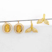 Женские маленькие серьги гвоздики «Дева Мария» милые в виде