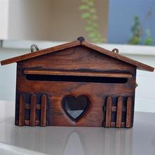 Post-Box Mailbox Outdoor for Home Office-Supplies Wooden Retro Creative Exquisite Rainproof